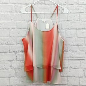 Charming Charlie   Multicolor Strappy Tank